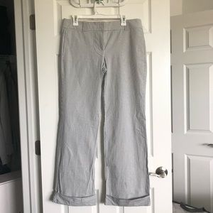 J. Crew Wide Leg Seersucker Pants